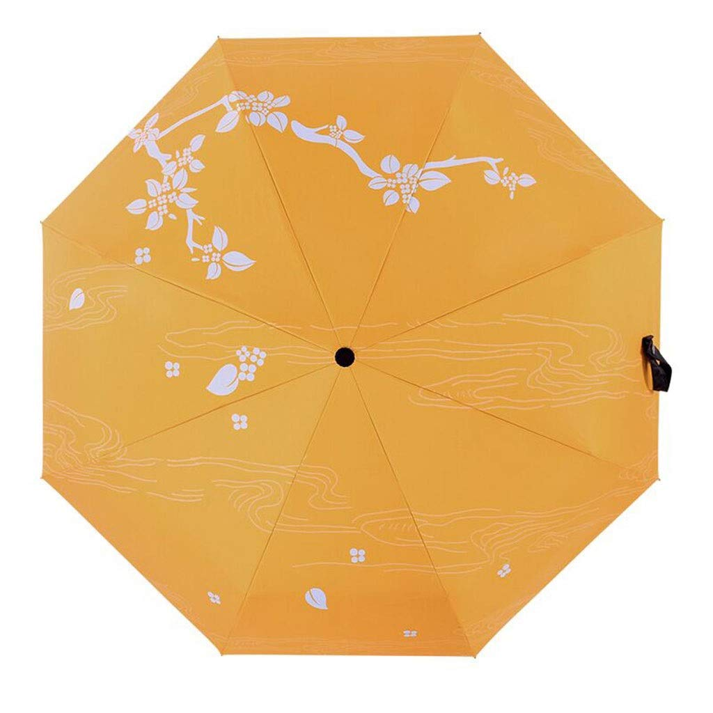 Umbrella Ultra Light Drying Travel Sun Protection UV Protection Windproof Automatic Folding with Auto Open and Close SYHZHY (Color : Yellow, Size : 5696cm)