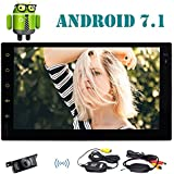EinCar 7 Double Din Car Stereo with Android 7.1 Octa Core 2GB 32GB In Dash GPS Navigation Auto FM AM Radio Support Bluetooth WiFi OBD2 Mirrorlink Steering Wheel Control + Free Wireless Backup Camera
