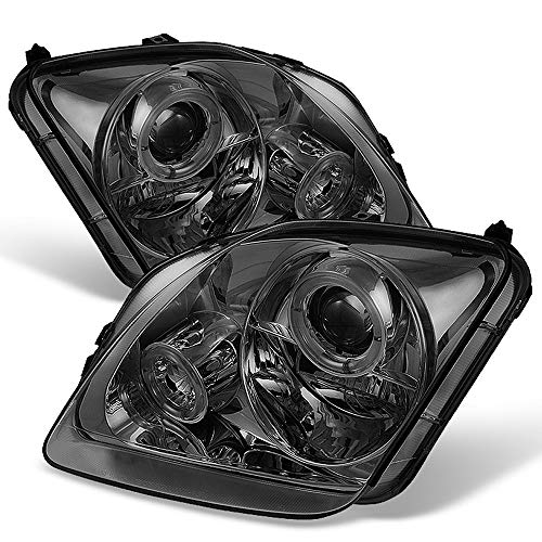 ACANII - For 1997-2002 Honda Prelude LED Halo Angel Eye Smoked Lens Projector Headlights Headlamps, Driver & ()