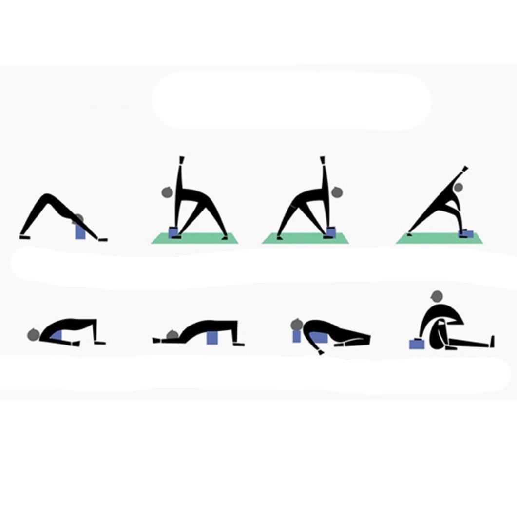 squarex ejercicio Fitness Yoga bloques de espuma cojín almohada cojín eva gimnasio Entrenamiento, mujer, verde, Medium: Amazon.es: Deportes y aire libre