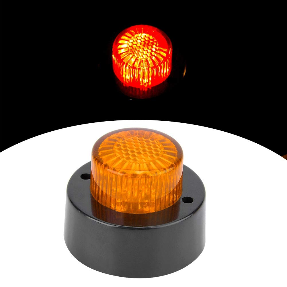 3W Luce di posizione laterale rotonda in plastica ABS Indicatore luminoso di segnalazione per camion Rosso Yctze Luce di posizione a LED 24V