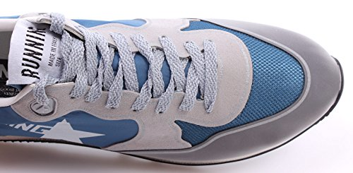 Zapatos Hombres Sneakers GOLDEN GOOSE Running Silver Blue Made In Italy Nueve