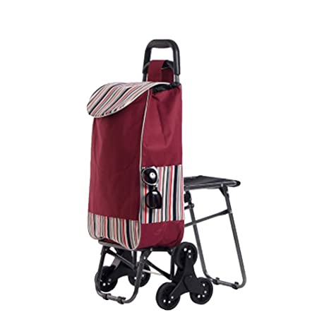 Plegable De Compras Trolley Escalada Escaleras Marco De Acero Impermeable Oxford Cloth Bearing Rueda Sillas Plegables