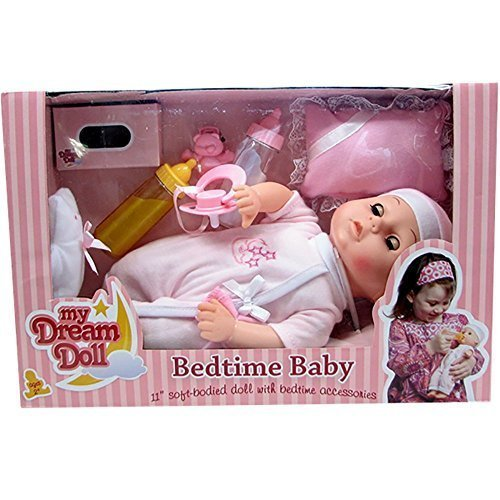 My Dream Doll Bedtime Baby, 11 inch Soft-Bodied Doll with Bedtime Accessories