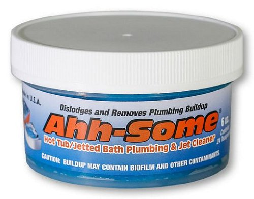 Ahh-Some- Hot Tub Cleaner | Clean Your Pipe & Jets Gunk Build Up | Clearer & Softer Water for Jacuzzi, Jetted Tub,Swim Spa or Spool Quickly & Efficiently | Top Water Clarifier 6oz.