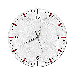 KeeYi Modern Silent Wall Clock Non Ticking, Decorative for Kitchen, Living Room, Bedroom, Bathroom, Bedroom, Office, See Timers at A Glance 28cm