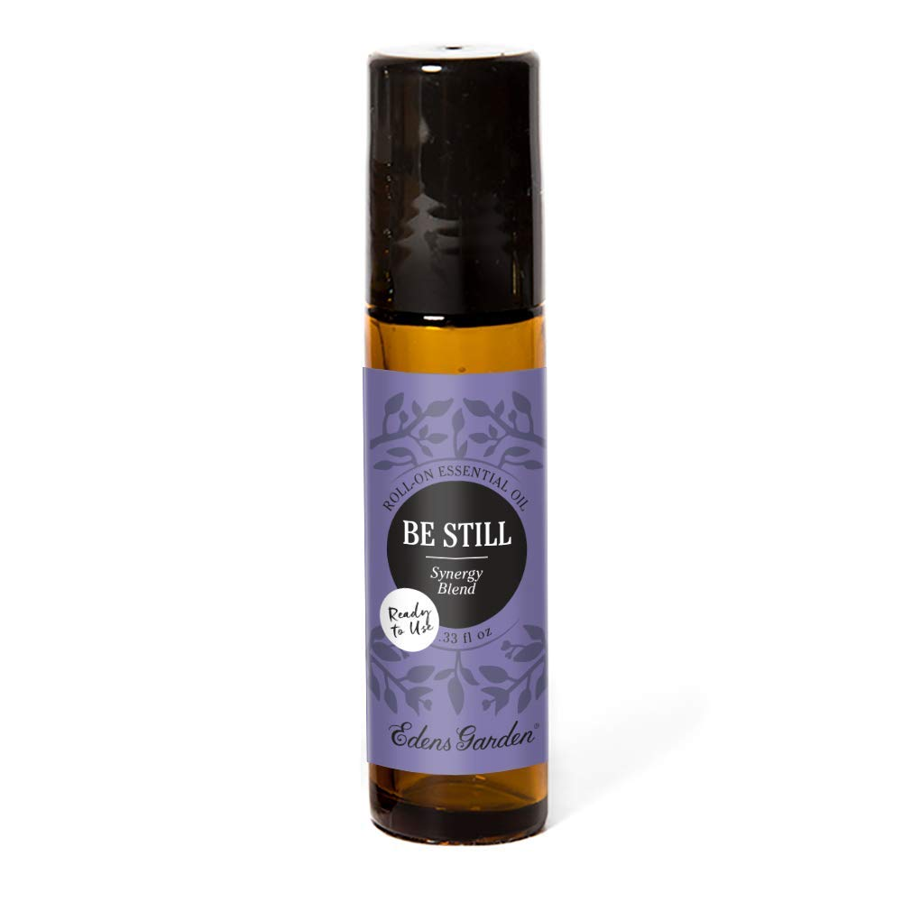Edens Garden Be Still Essential Oil Synergy Blend, 100% Pure Therapeutic Grade (Pre-Diluted & Ready To Use- Anxiety & Stress), 10 ml Roll-On