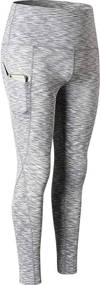 JANYN Women Dry Yoga Leggings with Sport Workout Pants Running Leggings with Pocket
