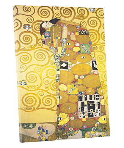 Niwo ART (TM) - The Embrace, by Gustav Klimt, Oil painting Reproduction - Giclee Wall Art for Home Decor, Gallery Wrapped, Stretched, Framed Ready to Hang (30