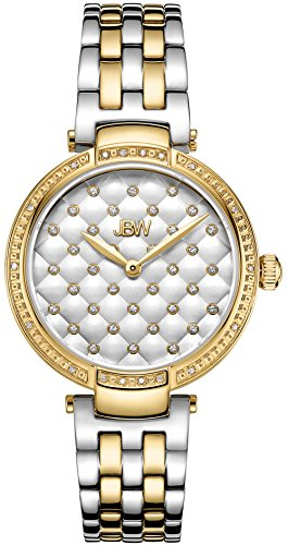 JBW Women's Gala .18 ctw Diamond 18k Gold-Plated Stainless Steel Watch J6356D