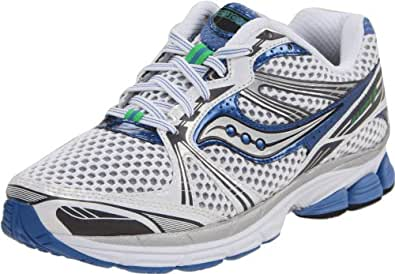 Saucony Women's Pro Grid Guide 5 Running Shoe,White/Silver/Blue,5 W US