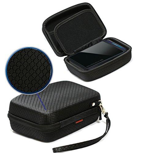Navitech Black EVA Shock Proof Hard Case for External Portable Hard Drives Including WD 2TB Passport Pro Portable T/Bolt / WD 500GB My Passport AV-TV Ext Hard Disk Drive