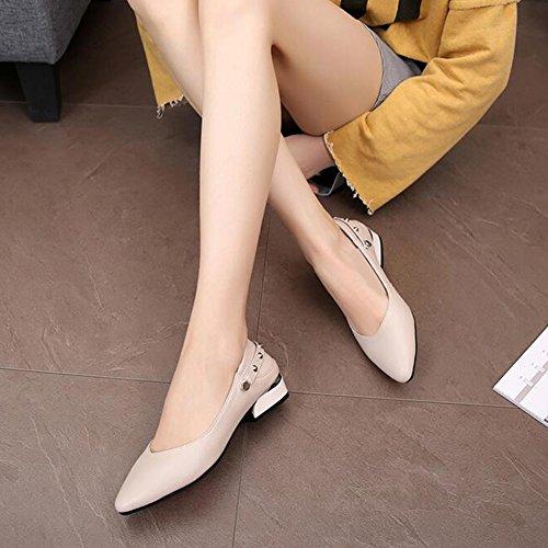 T Eu38 Moda Piatto Fondo Scarpe Cuoio Qidi Traspirante 1 Dimensioni 1 uk5 Di Donna T 5 Pu colore Casual THw6Xx