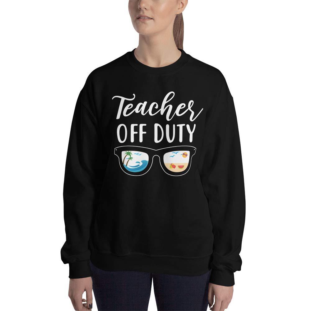 Black 2XL payatek Teacher Off Duty Sweatshirt Last Day School Present Gift Idea for Teachers