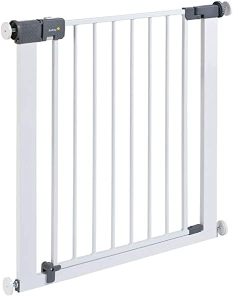 Safety 1st Rejilla para escaleras, cierre rápido, extraseguro, rejilla metálica para sujeción, 73-80 cm, posibilidad de extensión hasta 136 cm, extensible (a partir de 6-24 meses), color blanco: Amazon.es: Bebé