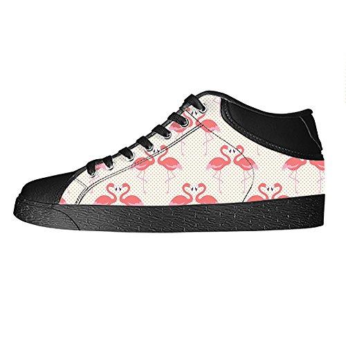 Custom modello Flamingo Womens Canvas shoes I lacci delle scarpe scarpe scarpe da ginnastica Alto tetto
