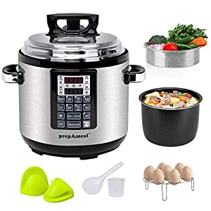prepAmeal 6QT 8-IN-1 ( 3 Speeds Options ) Pressure Cooker with Accessories Set, Multi-Use Programmable Instant Cooker… 10