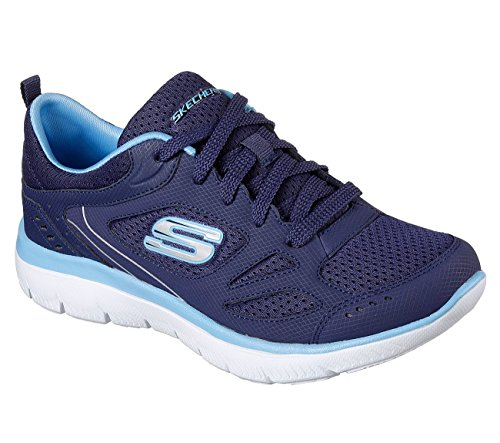 Skechers Sport Dames Skech Flex Relaxte Fit Sneaker Marine / Blauw