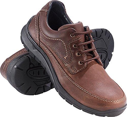 schumann und söhne Herren Schnür-Schuhe mit Memorysohle, braune Lederschuhe, als Arbeits-, Winter- & Outdoorschuhe verwendbar, Gr: 40 - 46