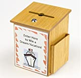 FixtureDisplays Donation Box Tithing Box Suggestion Ballot Box with Acrylic Sign Holder 1040-8511MO+12065!