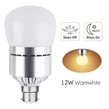 B22 bayonet dusk to dawn led light bulb 12w light amazon b22 bayonet dusk to dawn led light bulb 12w light sensor security bulb warm white mozeypictures Image collections
