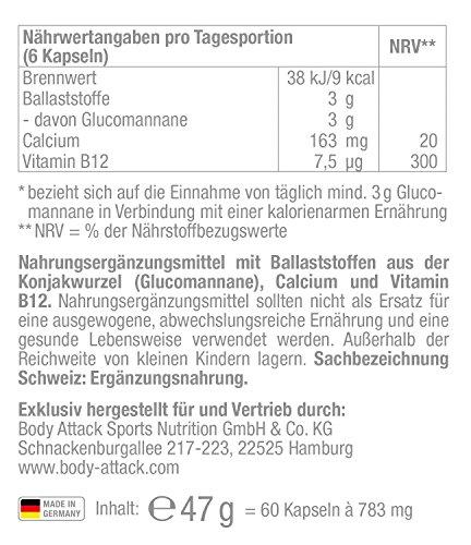 Body Attack Appetite Reducer 60 Kapseln, 1er Pack (1 x 0.052 kg)