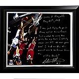 NBA New York Knicks Framed 22x26 John Starks Facsimile 'Game 2 Dunk Over Jordan' Story Stretched Canvas