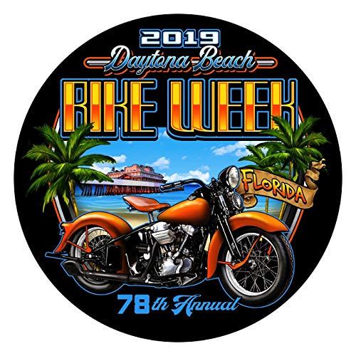 Biker Life Clothing 2019 Bike Week Daytona Beach Beach Shield Sticker/Decal