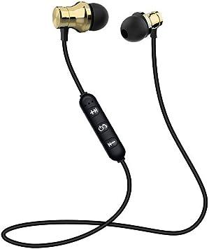 Deportes Auriculares Bluetooth Business Run Smart Universal Mobile Sports Teléfono inalámbrico Música magnética de Metal: Amazon.es: Electrónica
