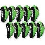 Callaway Golf Iron Head Covers 10pcs/set black & green MT/C07