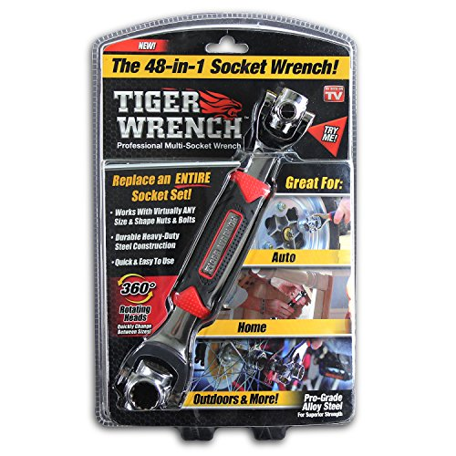 Tiger Wrench TW-MC12/4 ONTEL 48 Tools In One Socket | Works with Spline Bolts, 6-Point, 12-Point, Torx, Square Damaged Bolts and Any Size Standard or Metric (Tiger 1)