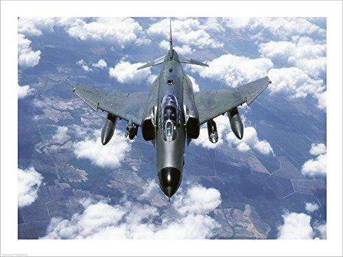 Mcdonnell Douglas F-4E Phantom II Jet Fighter Laminated Art Print, 40 x 30 inches ()