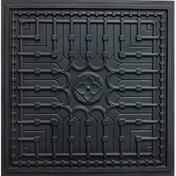 Amazon Com Suspended Ceiling 301 Faux Black Modern