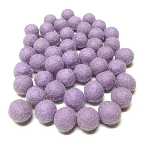 Yarn Place Felt Balls 50 New Zealand Wool Beads 20mm 1 Color: Violet ()