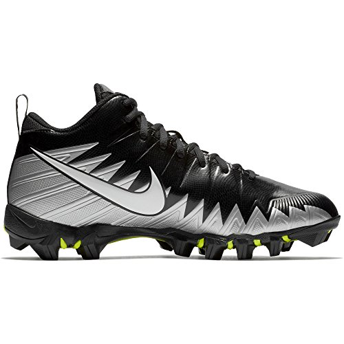 check out ae902 85183 Nike Men s Alpha Menace Shark Wide Football Cleat Black Metallic Silver  Size 9 ...