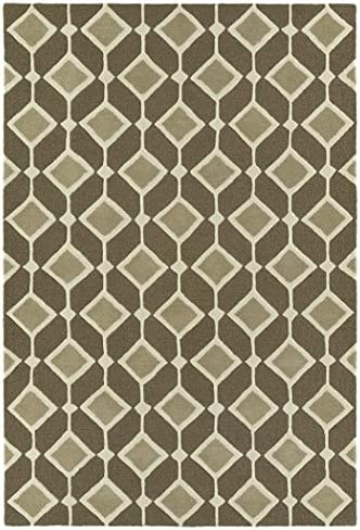 Kaleen Rugs Spaces Collection SPA05-49 Brown Hand Tufted Rug, 5 x 7