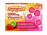 Emergen-C (30 Count, Strawberry-Kiwi Flavor) Dietary Supplement Drink Mix With 1000mg Vitamin C, 0.31 Ounce Packets, Caffeine Free