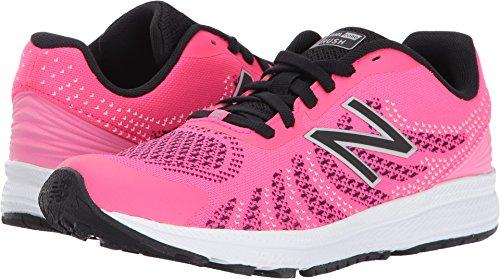 New Balance Girls' Rush V3 Road Running Shoe, Pink/Black, 1 Medium US Little Kid