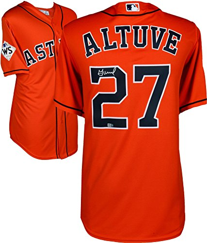Jose Altuve Houston Astros 2017 MLB World Series Champions Autographed Majestic World Series Orange Replica Jersey - Fanatics Authentic Certified