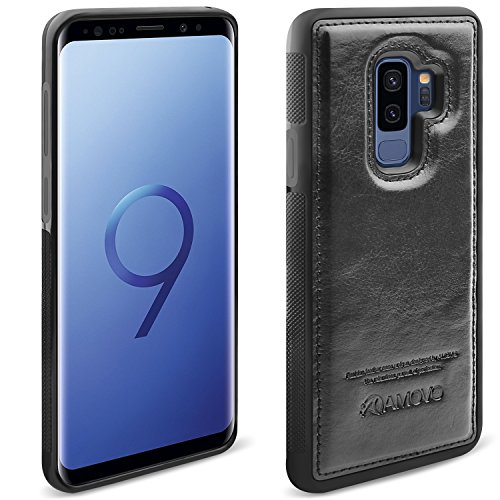 AMOVO Case for Galaxy S9 Plus [2 in 1], Samsung Galaxy S9 Plus Wallet Case [Detachable Wallet Folio] [Premium Vegan Leather] Samsung S9 Plus Flip Case Cover with Gift Box Package (Black, S9+) by Amovo (Image #6)