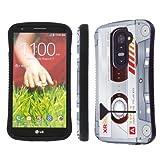 lg g2 custom case - NakedShield Verizon / AT&T LG G2 D801 VS980 Cassette Clear Heavy Duty Shock Proof Armor Art KickStand Phone Case