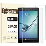 """All-New Fire HD 10 Screen Protector, ZAOX Tempered Glass Screen Protector Film for Amazon Kindle Fire HD 10 Tablet with 10.1"""" 1080p [9H Hardness] [Crystal Clear] [Bubble Free] (2 PACK)"""