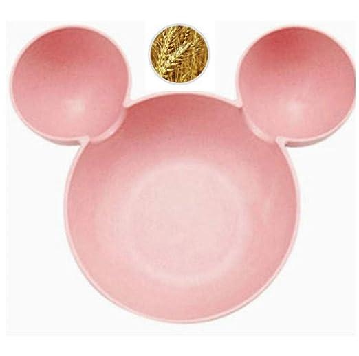 dzzdd Cerámica Mickey Mouse Baby Kids Plate Platos para Pasteles ...