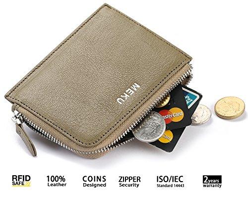 MEKU Blocking Womens Leather Zipper product image