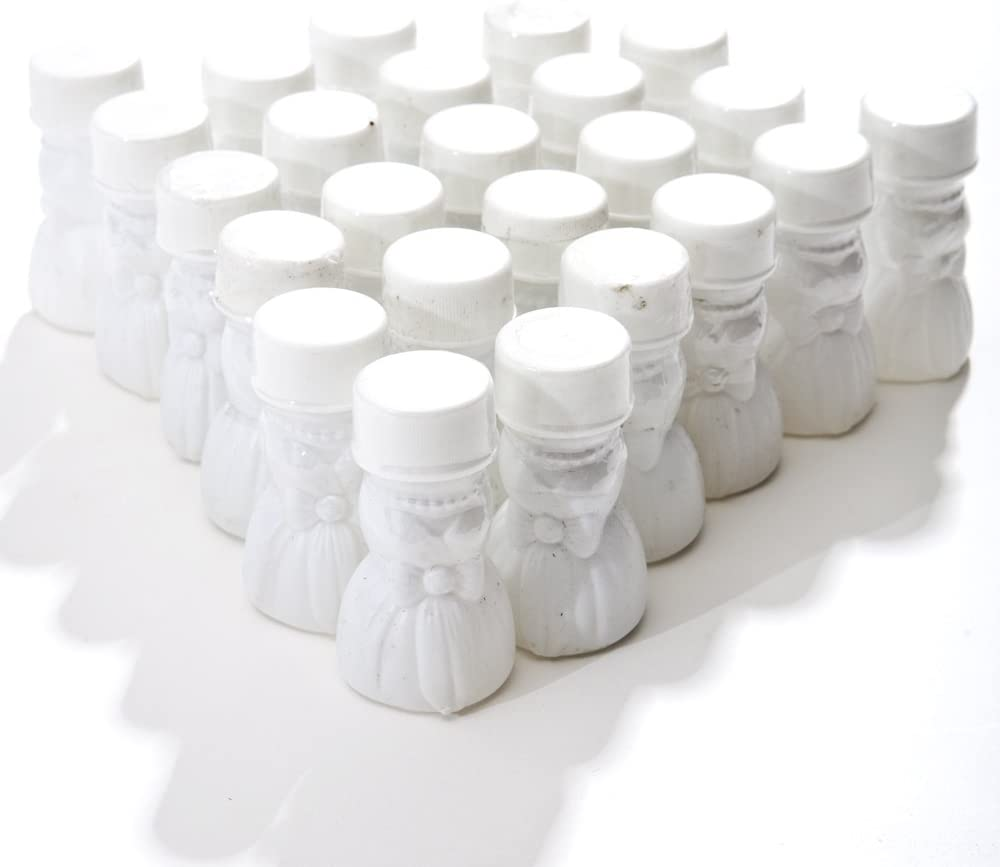 pack of 24 Wedding Gown Bubble Bottles