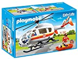 Playmobil 6686 City Life Emergency Medical Helicopter with Spinning Rotor Blades