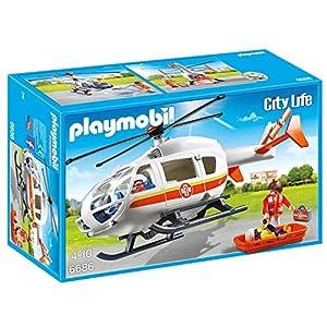 Playmobil Helicóptero Médico de Emergencia 6686 8