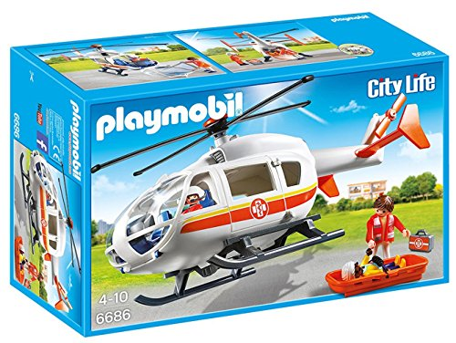 Rescue Ambulance - PLAYMOBIL Emergency Medical Helicopter