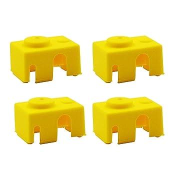 4 calcetines de silicona con aislamiento Hotend para impresoras 3D ...