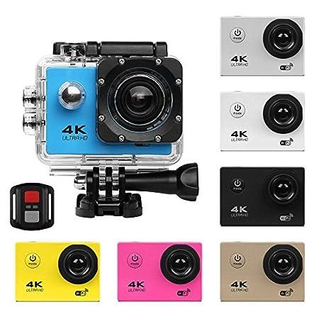 Action Camera 720P Ultra HD WiFi 30M Waterproof Diving Snorkeling Sport DV Mini Cam Camcorder+Remote for Kids, Snorkeling, Motorcycle, Bike, Helmet, Car, Ski and Water Sports UGI